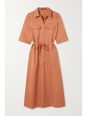 Mother of Pearl margot belted stretch-cotton and lyocell-blend poplin shirt dress