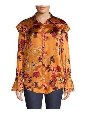 Mother of Pearl marin silk floral blouse