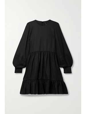 Mother of Pearl + net sustain effie gathered tiered tencel lyocell mini dress
