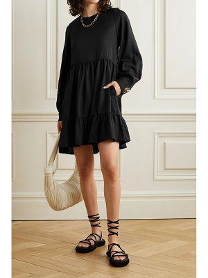 Mother of Pearl net sustain effie gathered tiered tencel lyocell mini dress