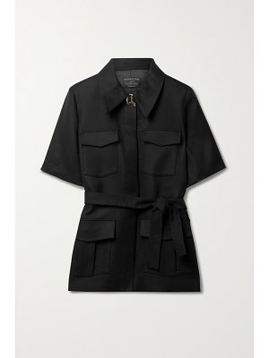 Mother of Pearl + net sustain taylor belted tencel lyocell and organic cotton-blend jacket