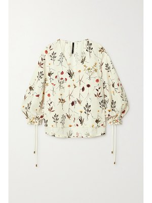 Mother of Pearl reese floral-print lyocell-twill blouse