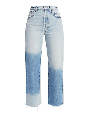 MOTHER the rambler high-rise ankle flare fray hem jeans
