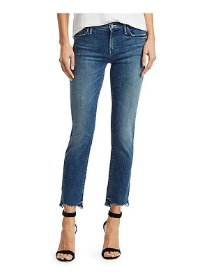 MOTHER rascal chewed hem straight-leg ankle jeans