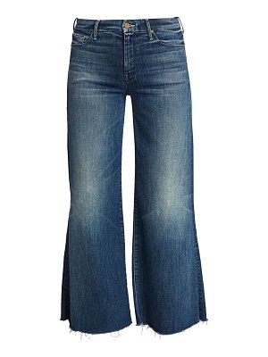 MOTHER roller mid-rise ankle fray flare jeans
