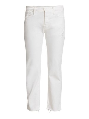 MOTHER scrapper fray cuff ankle jeans