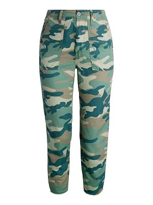 MOTHER shaker camo cropped pants