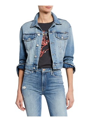 MOTHER The Big Shorty Cropped Denim Jacket
