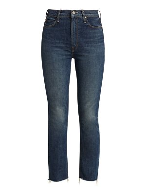 MOTHER the dazzler ankle frayed straight jeans