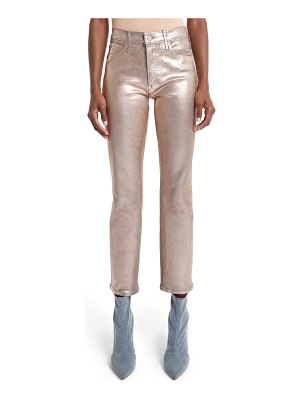 MOTHER the dazzler high waist ankle slim straight leg jeans