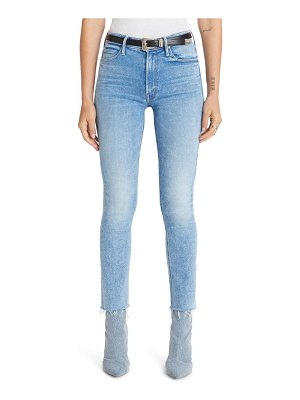 MOTHER the dazzler high waist fray ankle straight leg jeans