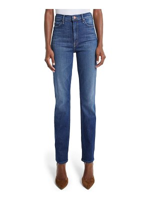 MOTHER the dazzler high waist straight leg jeans