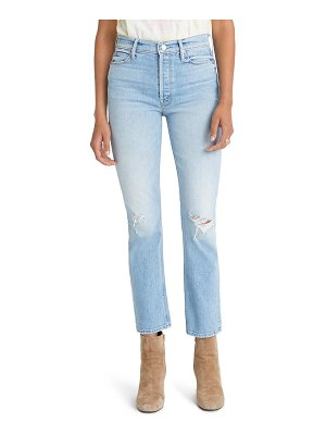 MOTHER the dazzler ripped high waist ankle jeans