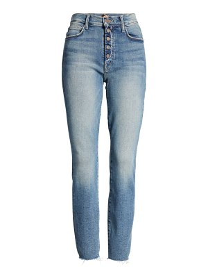 MOTHER the fly cut stunner fray hem ankle jeans