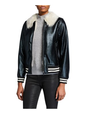 MOTHER The Fur Moto Jacket