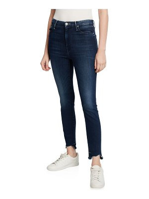 MOTHER The High-Waisted Looker Ankle Fray Jeans