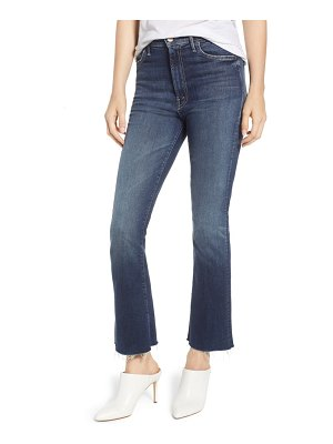 MOTHER the hustler fray ankle bootcut jeans