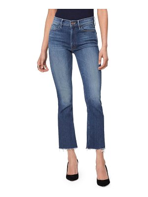 MOTHER the hustler high waist ankle fray jeans