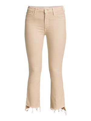 MOTHER the insider cropped step frayed jeans
