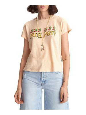MOTHER the itty bitty sinful cotton & linen graphic tee