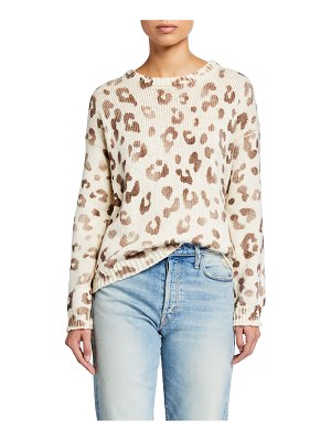 MOTHER The Jumper Leopard-Print Sweater