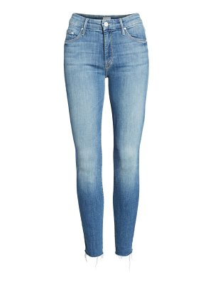 MOTHER the looker fray ankle skinny jeans