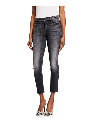 MOTHER The Mid Rise Dazzler Ankle Jeans with Ripped Knee