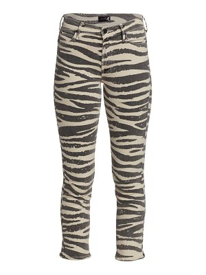 MOTHER the mid-rise dazzler printed ankle pants