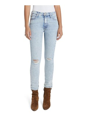 MOTHER the mid rise dazzler ripped ankle straight leg jeans
