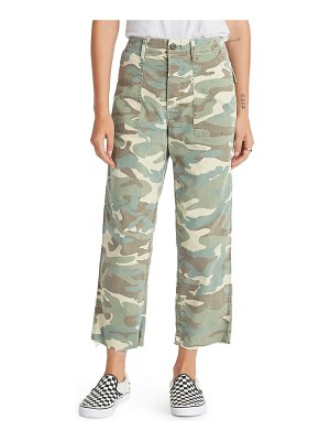 MOTHER the patch pocket frayed ankle military pants