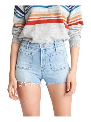 MOTHER the patchie high-rise denim shorts