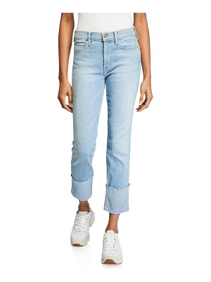 MOTHER The Pony Boy Ankle Fray Straight-Leg Jeans