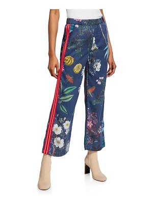 MOTHER The Quickie Greaser Ankle Printed Pants