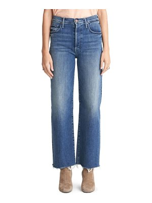 MOTHER the rambler high waist fray hem ankle jeans
