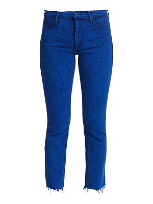 MOTHER the rascal mid-rise ankle fray jeans