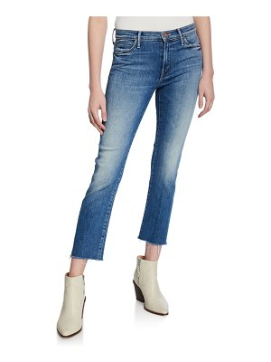 MOTHER The Rascal Cropped Fray-Hem Jeans