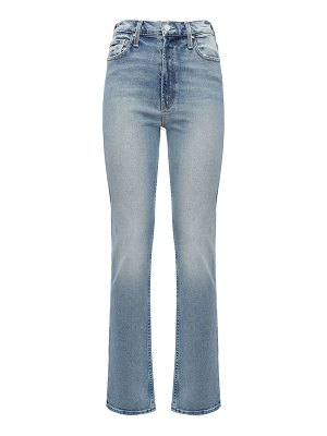 MOTHER The rider straight cotton denim jeans