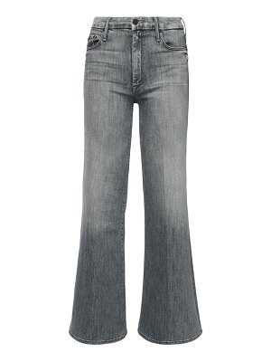 MOTHER The roller flared cotton jeans