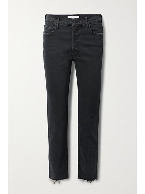 MOTHER the scrapper frayed high-rise straight-leg jeans