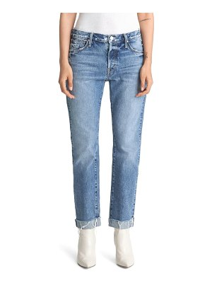 MOTHER the scrapper high waist frayed cuff ankle jeans