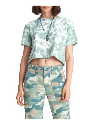 MOTHER the shaker camo print cotton & linen blend chop crop pants