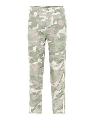 MOTHER the shaker chop crop fray pants