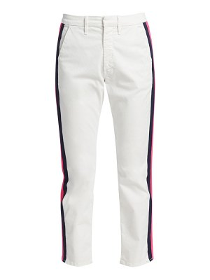 MOTHER the shaker prep racing stripe crop trousers