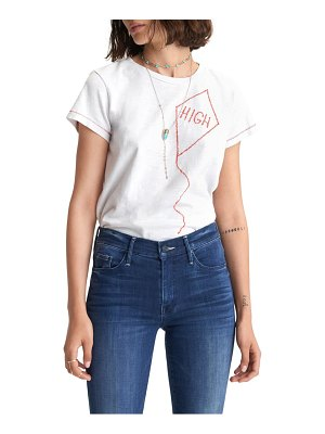 MOTHER the sinful embroidered t-shirt