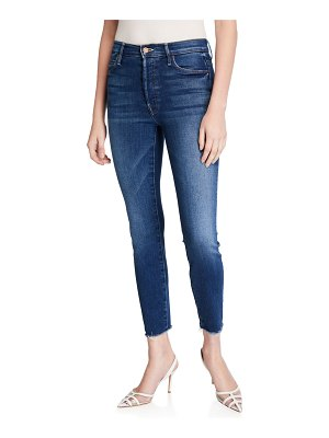 MOTHER The Stunner Ankle Fray Skinny Jeans