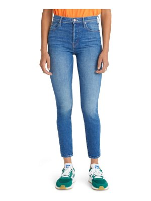 MOTHER the super stunner high waist ankle skinny jeans
