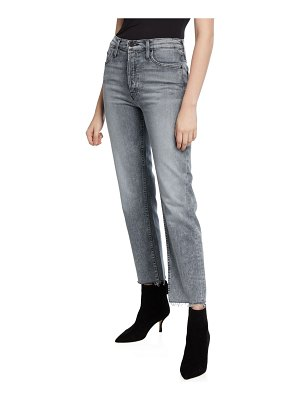 MOTHER The Tomcat Ankle Fray Straight-Leg Jeans