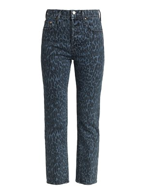 MOTHER the tomcat ankle leopard jeans
