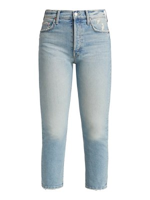 MOTHER the tomcat distressed ankle jeans