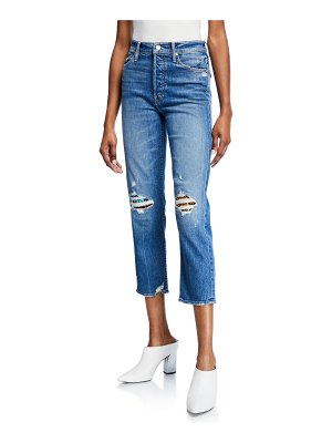 MOTHER The Tomcat High-Rise Distressed Jeans